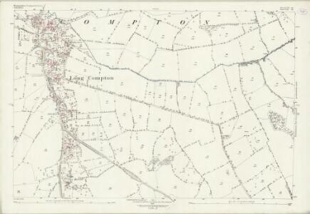 Warwickshire LVII.14 (includes: Long Compton; Rollright) - 25 Inch Map