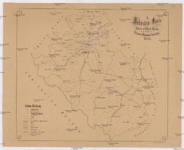 Industrie-Karte des Pilsner und Piseker Kreises beziehungsweise Pilsner Kammerbezirkes