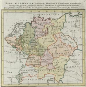 Regni Germaniae delineatio, secundum X. Circulorum divisionem veram suam figuram hodiernos circulorum et regni totius exacte referens