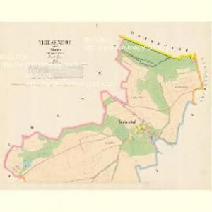 Triesenhof - c7490-1-001 - Kaiserpflichtexemplar der Landkarten des stabilen Katasters