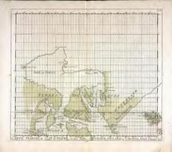Carte marine, de la B. de Baffin, et une partie d'Hudson, d'Island et Groenland