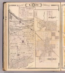 Map of Lake County (with) Lowell, Hobart, Crown Point.