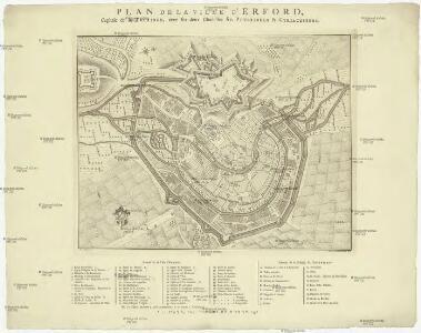 Plan de la ville d'Erfordt, capitale de la Thuringe
