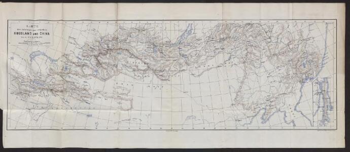 Karte der Reichsgrenze zwischen Russland und China