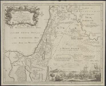Afbeelding van 't Koningryk Israëls, benevens de door 't zelve overheerde landen; gedurende de regering der koningen Saul, David, en Salomo