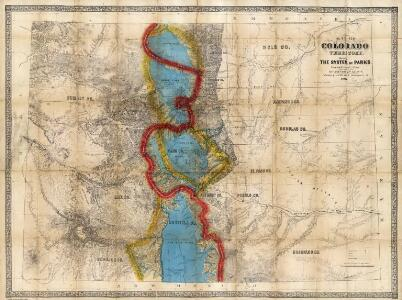 Map Of Colorado Territory, Shewing The System Of Parks.