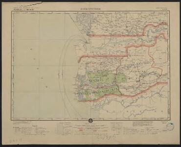 Carte des colonies de l'A.O.F. Ziguinchor