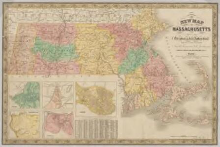 New map of Massachusetts : compiled from the latest and best authorities and corrected by permission from the survey ordered by the legislation in 1830, carefully revised and additions made in 1841