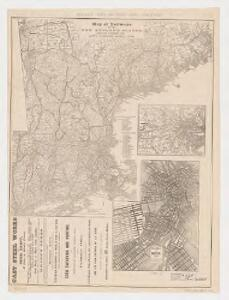 Map of railways in the New England states : engraved expressly for Snow's pathfinder railway guide