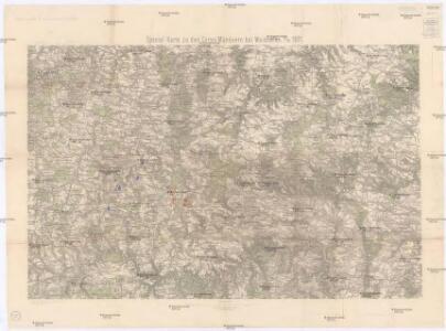 Special-Karte zu den Corps-Manövern bei Waidhofen a[n] [der Thaya] 1891