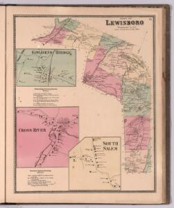 Town of Lewisboro, Westchester County, New York.  (insets) Goldens Bridge.  Cross River.  South Salem.
