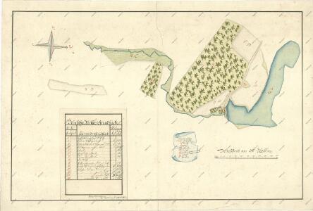 Geometrický plán činžovních pozemků mlynářů při dvoře Bečice