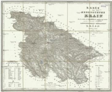 Karte vom Herzogthum Krain