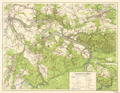 Wanderkarte Sachsische Schweiz