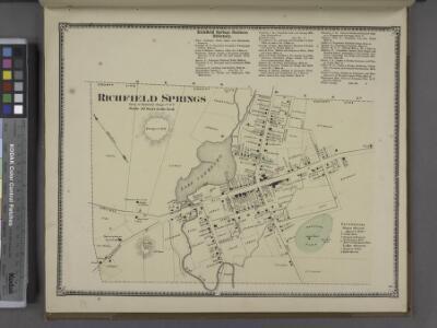 Richfield Springs Business Directory. ; Richfield Springs [Village]