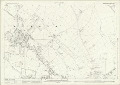 Hertfordshire XLIV.7 (includes: Bushey) - 25 Inch Map