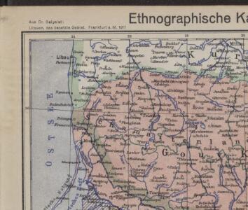 Ethnographische Karte von Litauen