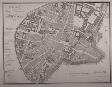 Plan der Haupt- und Residenzstadt München