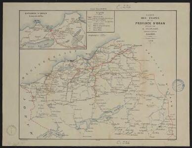 Carte des étapes de la province d'Oran