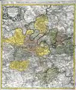 Agri Parisiensis tabula particularis, qua maxima pars insulæ Franciæ