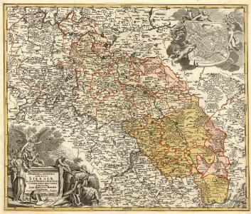 Superioris et Inferioris Ducatus Silesiae in suos XVII minores Principatus et Dominia divisi nova tabula
