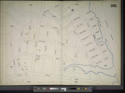 Manhattan, V. 11 1/2, Double Page Plate No. 251 [Map bounded by W. 211st St., Harlem River, Dyckman St., Prescott Ave.]