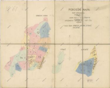 Porostní mapa hájenství Srbice