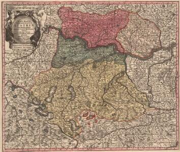 Nova Mappa Archiducatus Austriae Superioris Ditiones in suas Quadrantes divisas conspectui listens iuxta recentissimas observation adornata