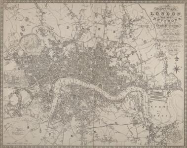 A New Map of LONDON and its ENVIRONS From an Original Survey