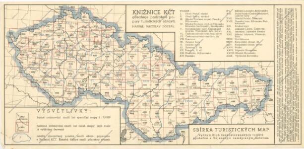 Sbírka turistických map: Klad mapových listů
