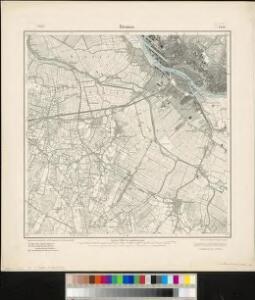 Messtischblatt 1451 : Bremen, 1916 Bremen