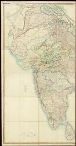 [Map of India shewing the British Territories, subdivided into Collectorates and including the Tenasserim Provinces, with the Position and Boundary of each Native State]