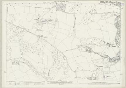 Somerset LXVII.14 (includes: Brushford; Oakford) - 25 Inch Map