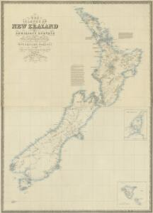The islands of New Zealand from the admiralty surveys of the English and French marine, from the officers of the New Zealand Company and from private surveys & sketches