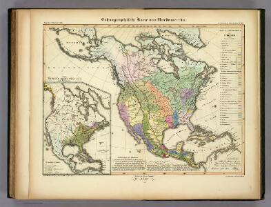 Ethnographische Karte von Nordamerika.