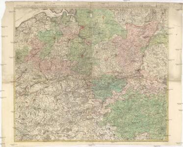 Theatre de la guerre ou carte topographique tres exacte des Pais-Bas