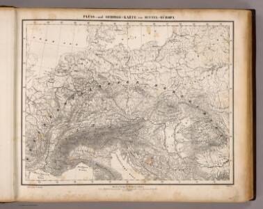 Fluss- u. Gebirgs-Karte, Mittel-Europa.