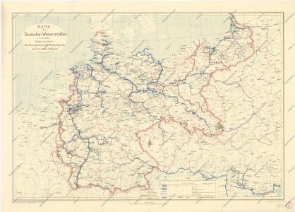 Karte der deutschen Wasser Wasserstrassen