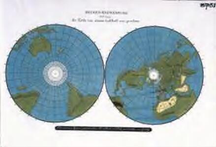 Becken=Entwerfung und zwar die Erde von einem Luftball aus gesehen