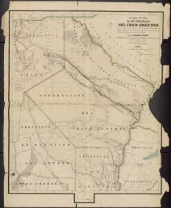 Plano Nuevo de los Territorios del Chaco argentino