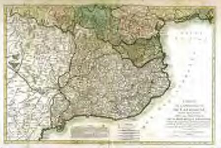 Carte de la principauté de Catalogne