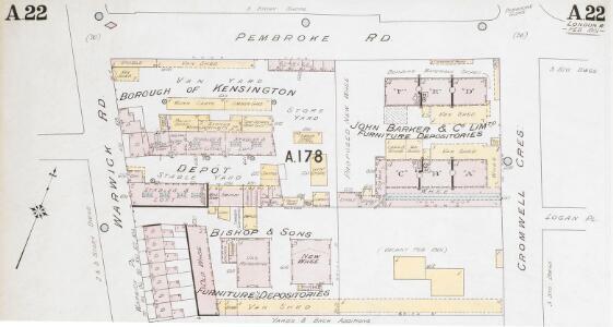 Insurance Plan of London Western District Vol. A: sheet 22-1