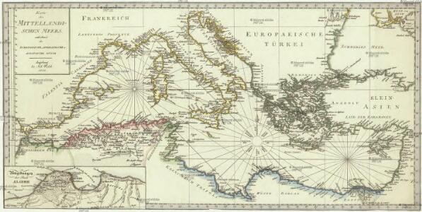 Karte des Mittellaendischen Meers enthaltend die europaische, afrikanische u. asiatische Küste