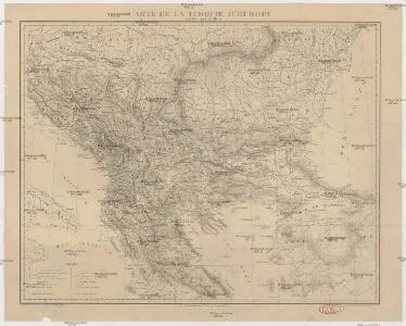 Carte de la Turquie d'Europe