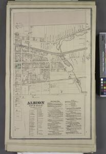 Albion East of Main St. [Village]; Albion Business Notices.