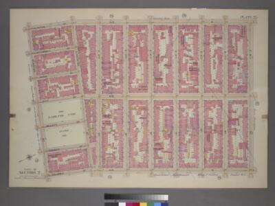 Plate 25, Part of Section 2: [Bounded by Clinton Street, Avenue B, E. 8th Street, Avenue D, Columbia Street and Stanton Street.]