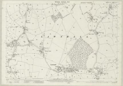 Suffolk LIV.15 (includes: Lawshall; Stanningfield) - 25 Inch Map