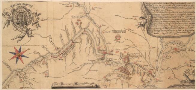 Passage glorieuse de la Riviere d'Ennez faize de Son Excellence le Marchall du Camp Monseigneur le Comte de Kevenhüller General Commendant de l'Armée de S: M: la Reine d'Hungarie et Boheme, le dernier de l'Anne 1741 â 8. heurs du Matin.