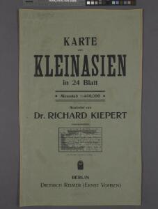 Karte von Kleinasien in 24 Blatt. Massstab 1:400,000. Bearbeitet von Dr. Richard Kiepert. Berlin Dietrich Reimer (Ernst Vohsen). 1904-1907. / bearbeitet von Richard Kiepert. 1902-1916.