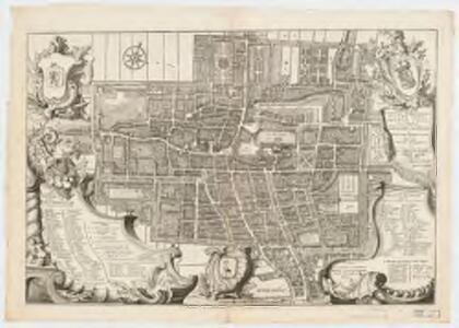 Nieue afbeelding' van S. Gravenhage = Nouveau plan de la Haye